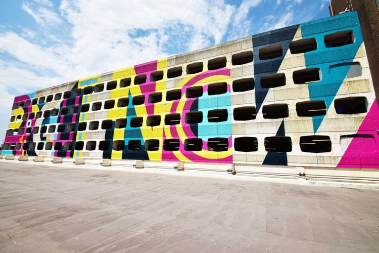 The new design of a car park in Worthing