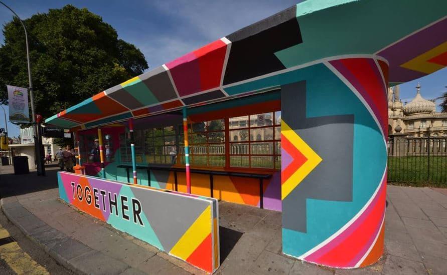 Brighton Pride Bus Shelter